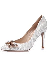 Da donna-Tacchi-Formale Serata e festaA stiletto-Lustrini Finta pelle-Oro Bianco Nero Argento
