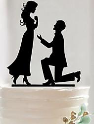 Custom couples marry acrylic wedding cake inserted card Elegant cake decoration birthday cake