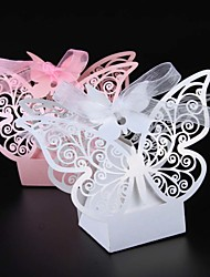 cheap -50pcs/lots Laser cut Butterfly Wedding favor box candy box wedding favorsdecoration