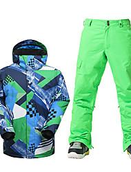 Skikleidung Ski/Snowboard Jacken Herrn Winterkleidung Polyester Kleidung für den WinterWasserdicht Atmungsaktiv warm halten