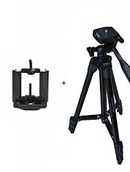 billige Tripods, monopods og tilbehør-ismartdigi i3120-bk flyttbart stativ 4-seksjon kamera stativ for alle d.camera v.camera mobilesamsung iphone htc lg sony nokia ... svart