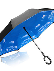 cheap -Long-handle Umbrella Plastic Men Travel Lady Car