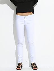 Pantaloni Da donna Jeans Vintage Poliestere Media elasticità