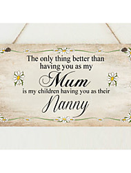 Amazon ebay hot style wooden gift to mom Wooden hangs Taiwan manufacturers selling mother's day