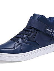 cheap -Men's Sneakers Fall / Winter Comfort PU Athletic / Casual Flat Heel Lace-up Black / Blue / Red Sneaker