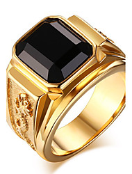 cheap -Men's Onyx Ring Statement Ring - Fashion Red Green Blue Golden Ring For Daily Casual
