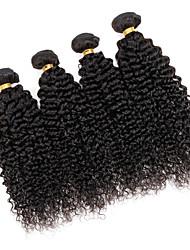 Cappelli veri Brasiliano Ciocche a onde capelli veri Riccio Afro Onda riccia Extensions per capelli 3 pezzi Nero