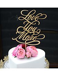 Decorações de Bolo Não-personalizado Casal Clássico Cromado Despedida de Solteira Casamento Aniversário Amarelo Tema vintage Tema rústico
