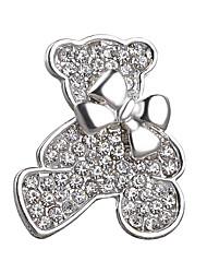 Lovely Bear Full Crystal Shining Bow Brooch for Women Girl