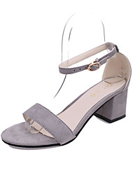 Women's Heels PU Spring Summer Casual Stiletto Heel Black Beige Light Grey Blushing Pink 2in-2 3/4in