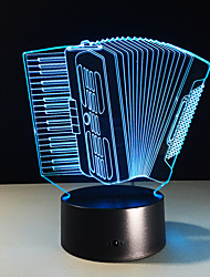 cheap -1PC Accordion Colorful Vision Stereo Led Lamp 3D Lamp Light Colorful Gradient Acrylic Lamp Night Light Vision