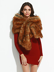 cheap -Women's Vintage Party Faux Fur Rectangle - Solid Colored