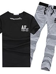 Per uomo T-shirt e pantaloni da corsa Manica corta Traspirante Set di vestiti per Esercizi di fitness Attività ricreative Badminton