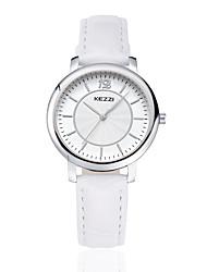 abordables -KEZZI Pareja Reloj de Pulsera Gran venta PU Banda Casual / Moda Negro / Blanco / Marrón
