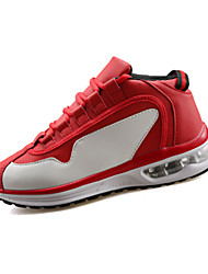 economico -Da uomo-scarpe da ginnastica-Casual-Comoda-Piatto-PU (Poliuretano)-Nero Rosso Bianco Nero bianco