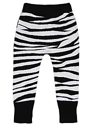 Unisex Going out Casual/Daily Sports Striped Leopard Animal Print Pants-Cotton Winter Fall