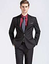 cheap -Men's Street chic Plus Size Suits - Solid Colored Notch Lapel