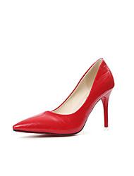 Da donna Tacchi PU (Poliuretano) Primavera Estate Autunno Casual A quadri A stiletto Bianco Nero Argento Rosso 5 - 7 cm