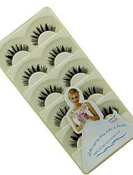 baratos -Cílios Cílios Postiços 10 pcs Volumizado Encaracolado Extra Longo Cílios de Lã Animal Tiras Completas de Cílios Cruzado - Maquiagem Maquiagem para o Dia A Dia Maquiagem de Festa Cosmético Artigos