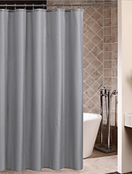 cheap -Shower Curtains Neoclassical Polyester Plaid Machine Made