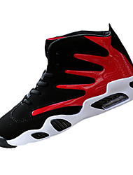Черный / синий Черный Красный Черно-белый-Мужской-Повседневный Для занятий спортом-Полиуретан-На плоской подошве-Удобная обувь-Спортивная