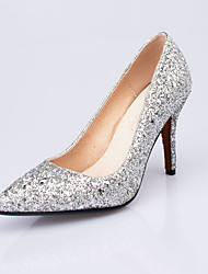 cheap -Women's Shoes Glitter Spring Summer Heels Stiletto Heel Pointed Toe Sequin for Wedding Party & Evening Gold Silver Red