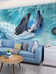 abordables -Décoration artistique 3D Décoration d'intérieur Classique Revêtement, Toile Matériel adhésif requis Mural, Couvre Mur Chambre