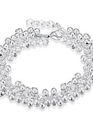 Dámské Řetězové & Ploché Náramky Měď Postříbřené Módní Bohemia Style Punkový styl Přizpůsobeno minimalistický styl Stříbrná Šperky 1ks