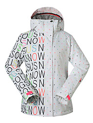 cheap -GSOU SNOW Women's Ski Jacket Waterproof, Thermal / Warm, Quick Dry Skiing / Skating / Snowboarding Polyester Warm Top / Jacket Ski Wear