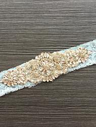 abordables -Encaje Liga de la boda - Pedrería Encaje