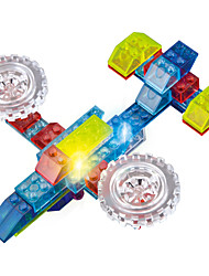 cheap -LED Lighting Building Blocks Toys Plane / Aircraft Fighter Truck Lighting LED Lighting ABS Boys' Girls' 74 Pieces