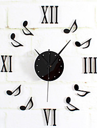 Modern Style Creative DIY Music Dancing Mute Wall Clock