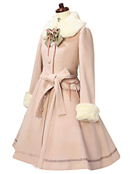 cheap -Winter Sweet Lolita Coat Princess Lace Women's Coat Cosplay Long Sleeves