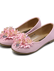 cheap -Girls' Shoes Leatherette Spring / Fall Comfort / Flower Girl Shoes Flats Rhinestone / Crystal / Imitation Pearl for Beige / Pink