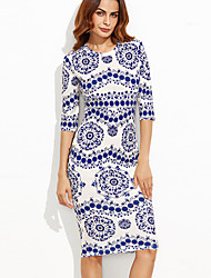 cheap -Women's Party / Going out Street chic Bodycon Dress Print
