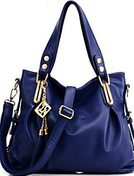 Women Bags All Seasons PU Tote Rivet for Formal Outdoor Office & Career Black Fuchsia Brown Blue Dark Red