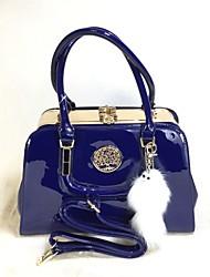 Donna Sacchetti Per tutte le stagioni PU (Poliuretano) Tote sacchetto regola per Casual Nero Royal Blue