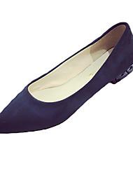 Damen-Flache Schuhe-Lässig-PU-Flacher Absatz-Komfort-Schwarz Blau Gelb Grau Beige