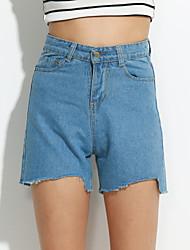 preiswerte -Damen Freizeit Kurze Hosen Jeans Hose Solide