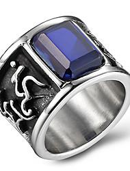 preiswerte -Statementringe Ring Onyx Achat Titanstahl Modisch Schwarz Rot Blau Schmuck Alltag Normal 1 Stück