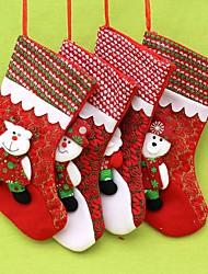 baratos -Meias Finas Moda Têxtil Alta qualidade Decoração de Natal