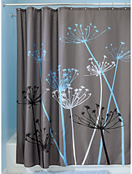 cheap -Shower Curtains Neoclassical Polyester Floral/Botanical Machine Made