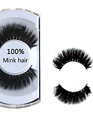 cheap -Eyelashes lash Full Strip Lashes Eyelash Natural Long Lifted lashes Volumized Natural Curly Handmade Animal wool eyelash Black Band