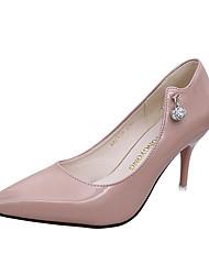 Damen High Heels Komfort Slouch Stiefel PU Frühling Sommer Herbst Normal Walking Komfort Slouch Stiefel Strass StöckelabsatzSchwarz Blau