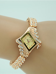 cheap -Women's Dress Watch Fashion Watch Bracelet Watch Quartz Imitation Diamond Alloy Band Charm Elegant Gold