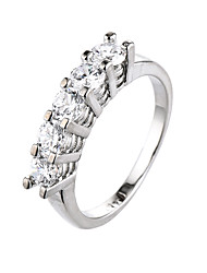 Ring AAA Cubic Zirconia Zircon Cubic Zirconia Alloy Gold Silver Jewelry Casual 1pc