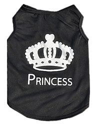 cheap -Cat Dog Vest Dog Clothes British Black Terylene Costume For Pets Men's Women's Cute Casual/Daily