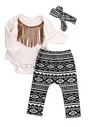preiswerte -Mädchen Kleidungs Set Party Alltag Ausgehen Baumwolle Polyester Ganzjährig Langarm Weiß