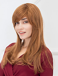 Long Hairstyles With Bangs Natural Wave Capless Human Hair Wigs For Wonman 2017