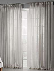 cheap -Rod Pocket Grommet Top Tab Top Double Pleat Two Panels Curtain Country, Print Solid Bedroom Polyester Material Sheer Curtains Shades Home